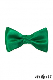 Smaragdzöld, fényes megkötős csokornyakkendő