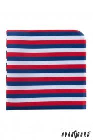 Tricolor férfi díszzsebkendő