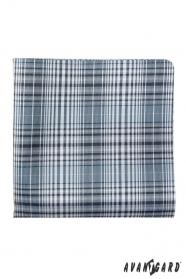 Csíkos kék díszzsebkendő