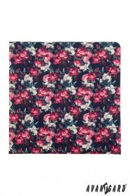 Festett virágos díszzsebkendő