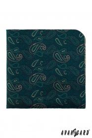 Csepp mintás zöld díszzsebkendő