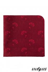 Luxusos piros díszzsebkendő