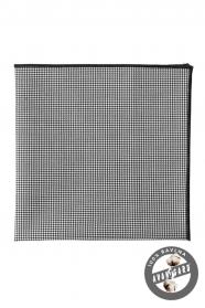 Fekete/fehér mintás pamut díszzsebkendő