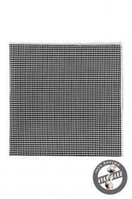Pamut díszzsebkendő fekete folt