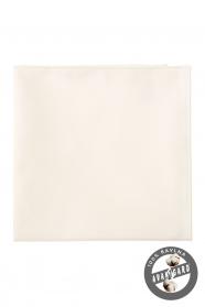 Díszzsebkendő - Krémszínű, 100% pamut