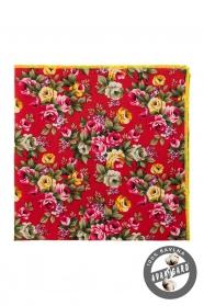 Pamut díszzsebkendő virágokkal