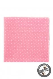 Rózsaszín díszzsebkendő fehér pöttyökkel