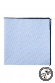 Apró mintás pasztelkék pamut díszzsebkendő