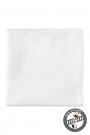 Sima pamutos fehér díszzsebkendő