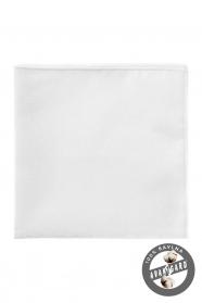 Luxusos fehér pamutos díszzsebkendő