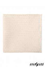 Lux mintás krém díszzsebkendő