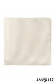 Egyszerű krém díszzsebkendő