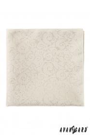 Szép luxus mintás krém díszzsebkendő