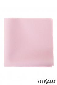 Egyszerű rózsaszín díszzsebkendő