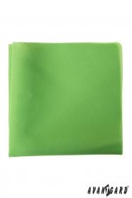 Egyszerű zöld díszzsebkendő