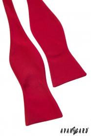 Piros, selyem, megkötős csokornyakkendő