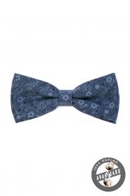 Kék virág mintás pamut csokornyakkendő