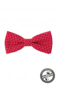 Pamut piros csokornyakkendő csillagos mintával