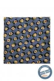 Kapesníček hedvábný PREMIUM - Modrá