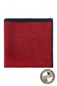 Piros pokróc mintás gyapjú díszzsebkendő