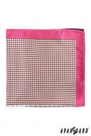 Díszzsebkendő rózsaszín szegély