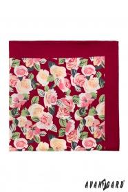 Díszzsebkendő rózsával