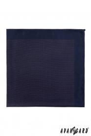 Sötétkék mintás díszzsebkendő