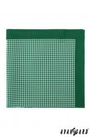 Szimpla mintás zöld díszzsebkendő