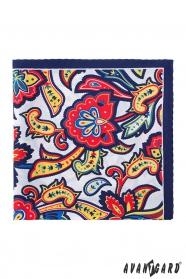 Színes modern és hagyományos mintás díszzsebkendő