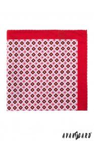 Egyszerű virágos mintás díszzsebkendő