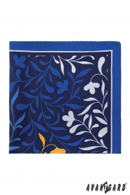 Modern szimpla mintás pasztelkék díszzsebkendő
