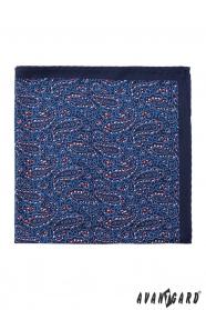 Sötétkék díszzsebkendő varázslatos cseppes mintával