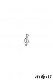 Öltöny kitűző - Hegedű kulcs