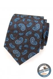 Férfi selyem nyakkendő kék színű