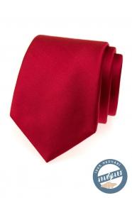 Piros selyem nyakkendő egy ajándék dobozban