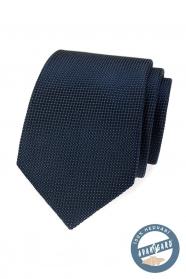 Strukturált kék selyem nyakkendő díszdobozban