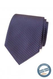 Selyem nyakkendő, kék-piros mintával