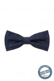 Kék, kocka mintás, selyem csokornyakkendő