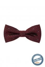 Bordó, apró mintás, selyem csokornyakkendő