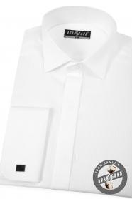 Fehér luxus szmoking ing dupla mandzsettával
