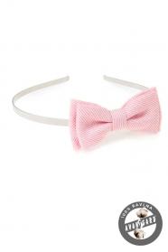 Haj fejpánt - rózsaszín strukturált
