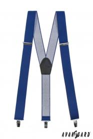 Királykék nadrágtartó Y alakú 3-klip tartó