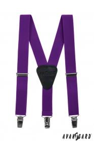 Fiú nadrágtartó  Y-alakú 3-klip tartó, lila szín