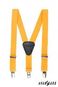 Fiú nadrágtartó  Y-alakú 3-klip tartó, sárga