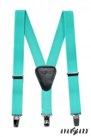 Fiú nadrágtartó  Y-alakú 3-klip tartó, menta szín