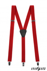 Piros férfi nadrágtartó 3-klip tartó