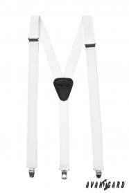 Nadrágtartó Y-alakú 3-klip tartó, fehér szín