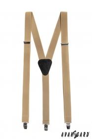 Nadrágtartó Y-alakú 3-klip tartó, bézs szín
