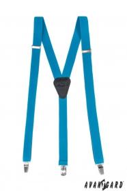 Nadrágtartó Y-alakú 3-klip tartó, türkiz szín