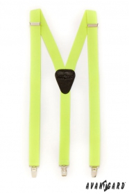 Nadrágtartó Y-alakú 3-klip tartó, sárga neon